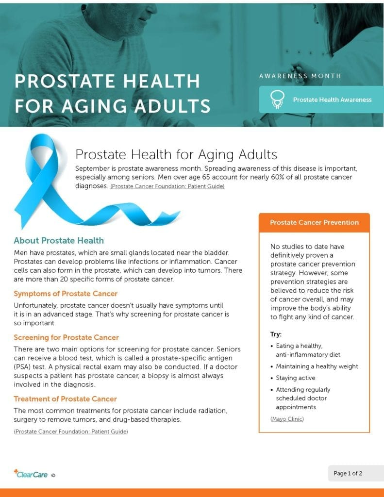 September is Prostate Awareness Month
